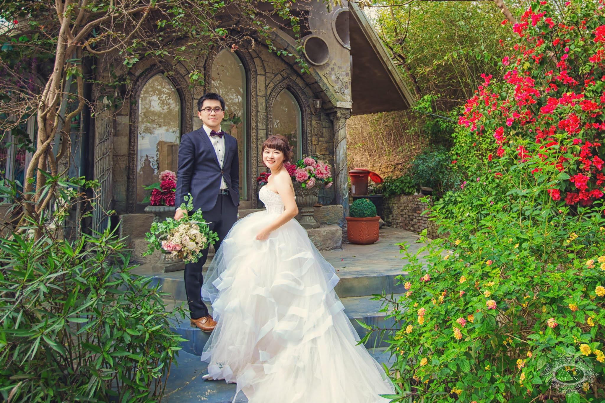 國內婚紗 苗栗格林奇幻森林攝影基地 夢幻童話森林 浪漫風格 逆光婚紗 台北婚紗推薦