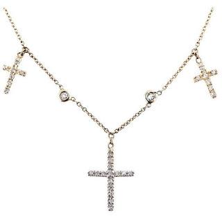 Jacquie Aiche Triple Cross Choker
