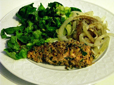 Hazelnut & Almond Crusted Steamed Salmon Fillets and Fennel