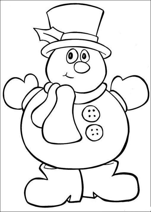 natal 45 desenhos bonecos de neve para colorir portal escola