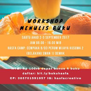 Workshop Menulis Buku Di  Hasfa Camp