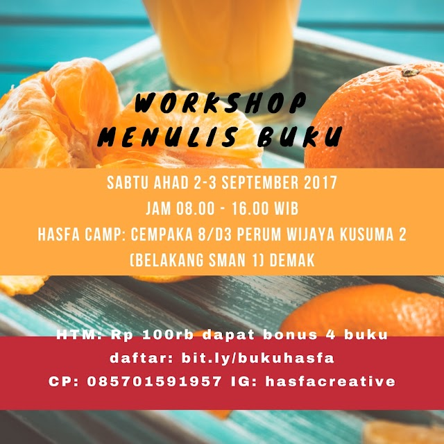 Workshop Menulis Buku Di  Hasfa Camp