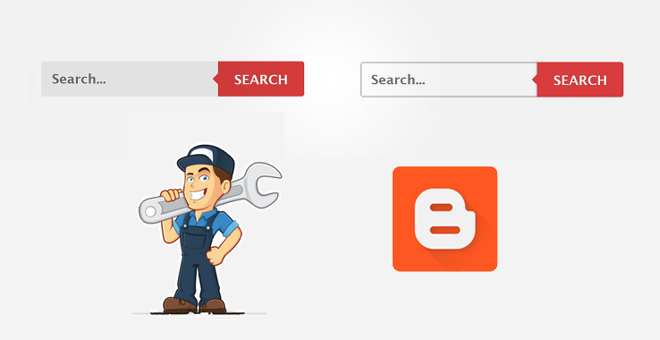 stylish search box for blogger