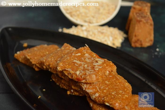 Sesame Oats  Fudge Recipe