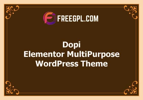 Dopi - Elementor MultiPurpose WordPress Theme Free Download