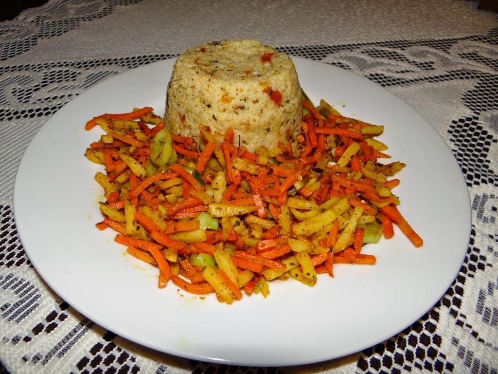 Kasza jaglana z warzywami