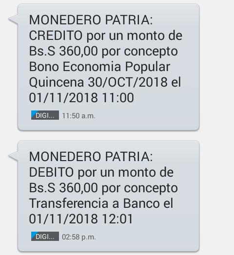 Deposito 2da quincena octubre del pago Bono Economía Popular (TRABAJADORES INDEPENDIENTES