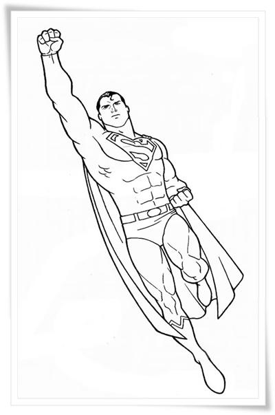 ausmalbilder zum ausdrucken: ausmalbilder superman