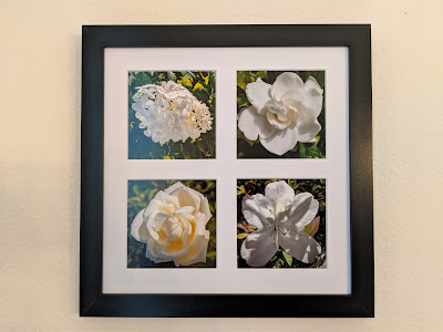 White Flowers Tetraptych by Citysqwirl