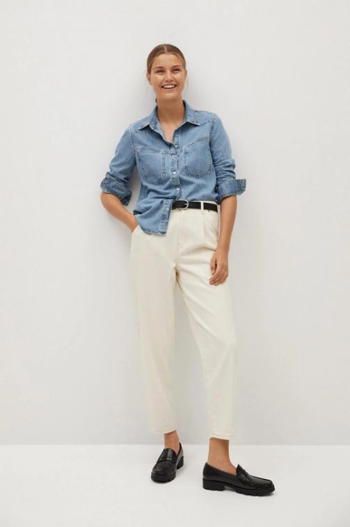 Camsa casual femei albastra din jenas