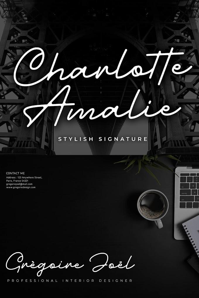 Charlotte Amalie Stylish Signature Font