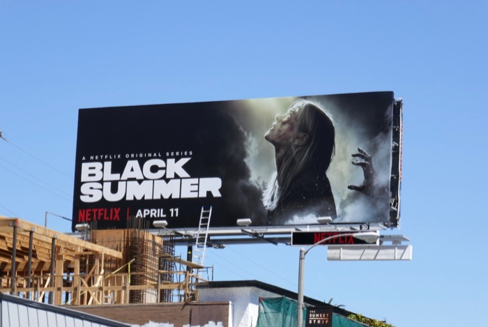 Black Summer series launch billboard