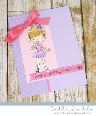 Sending a Birthday Song Your Way card-designed by Lori Tecler/Inking Aloud-stamps and dies from My Favorite Things