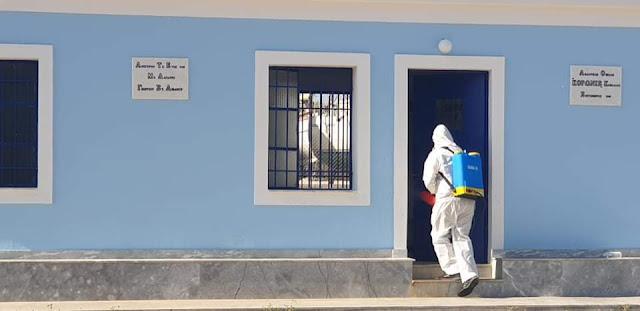 Απολύμανση στο γήπεδο της Κορωνίδας Κοιλάδας από τον Δήμο Ερμιονίδας