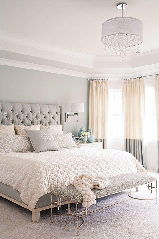 The soft colors in the room make the room more delicate.