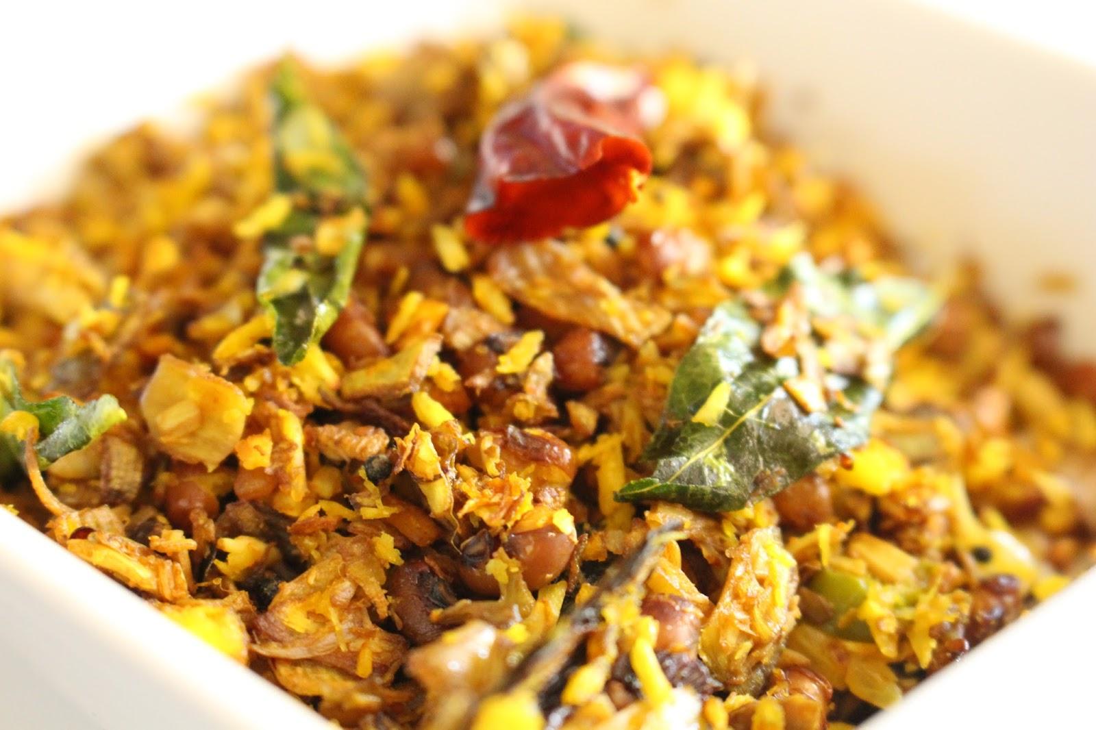 Layer Cake Recipe In Malayalam: NaavinRuchi : Vazha Koombu Vanpayar Thoran (Banana Flower