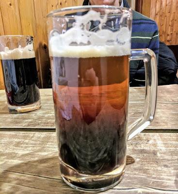 Bratislava in winter: Rezane: half dark and half light beer
