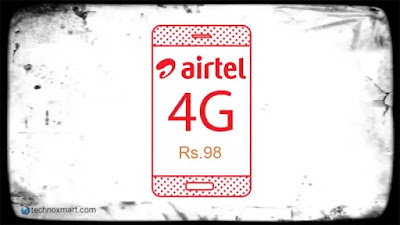 airtel rs98 double data prepaid plans