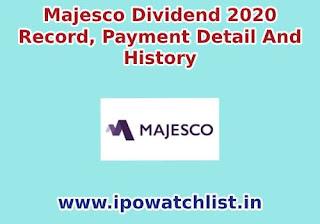 majesco dividend 2020