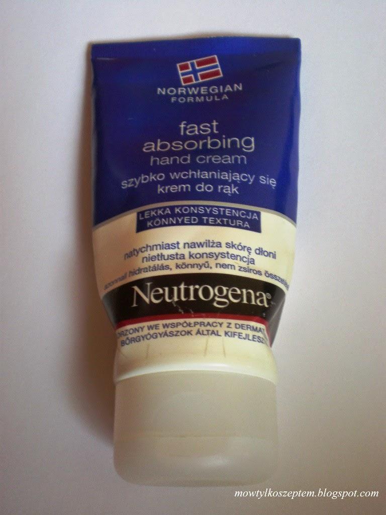 Neutrogena, fast absorbing hand cream - ratunek dla dłoni