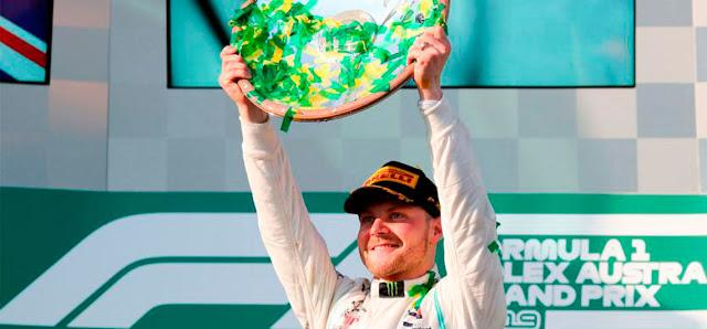 Valtteri Bottas quedó en el podio del Gran Premio de Australia seguido de Hamilton.