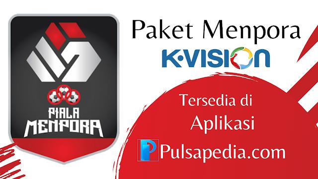 Cara Beli Paket Menpora K Vision Online