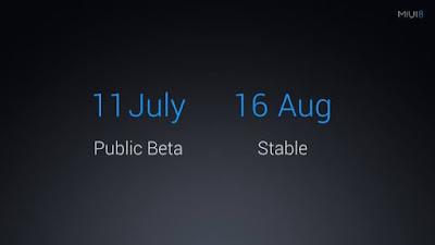 MIUI 8 Global Stable ROM : Tanggal Rilis dan Daftar Device yang suport