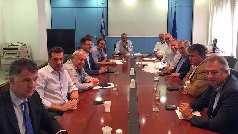 Συνάντηση Χωρικών Αντιπεριφερειαρχών με τον Υπουργό Εσωτερικών Πάνο Σκουρλέτη