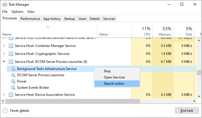 Penyebab Banyaknya Service Host yang Berjalan di Task Manager