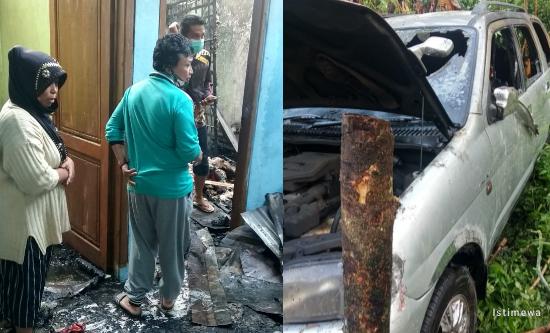 Rumah dan Mobil Terbakar di Pulosari, Kerugian Ditaksir Ratusan Juta Rupiah