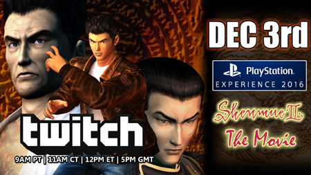 Shenmue Dojo Dec 3 Twitch Announcement