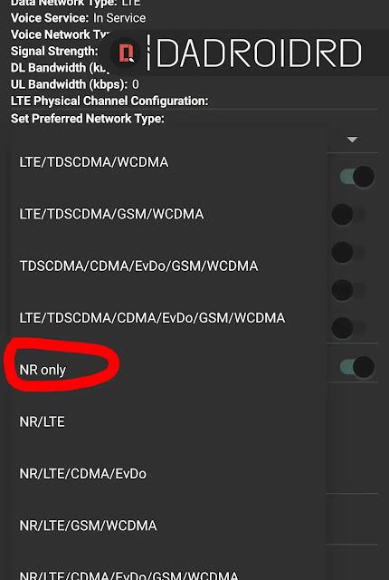 Cara mengunci jaringan 5G agar tidak berubah