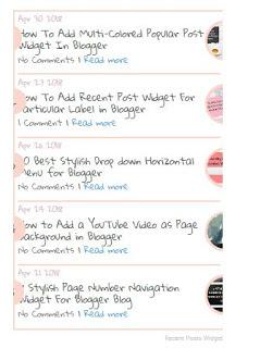 Recent Post Widget Blogger(Blogspot) Me Kaise Add Kare