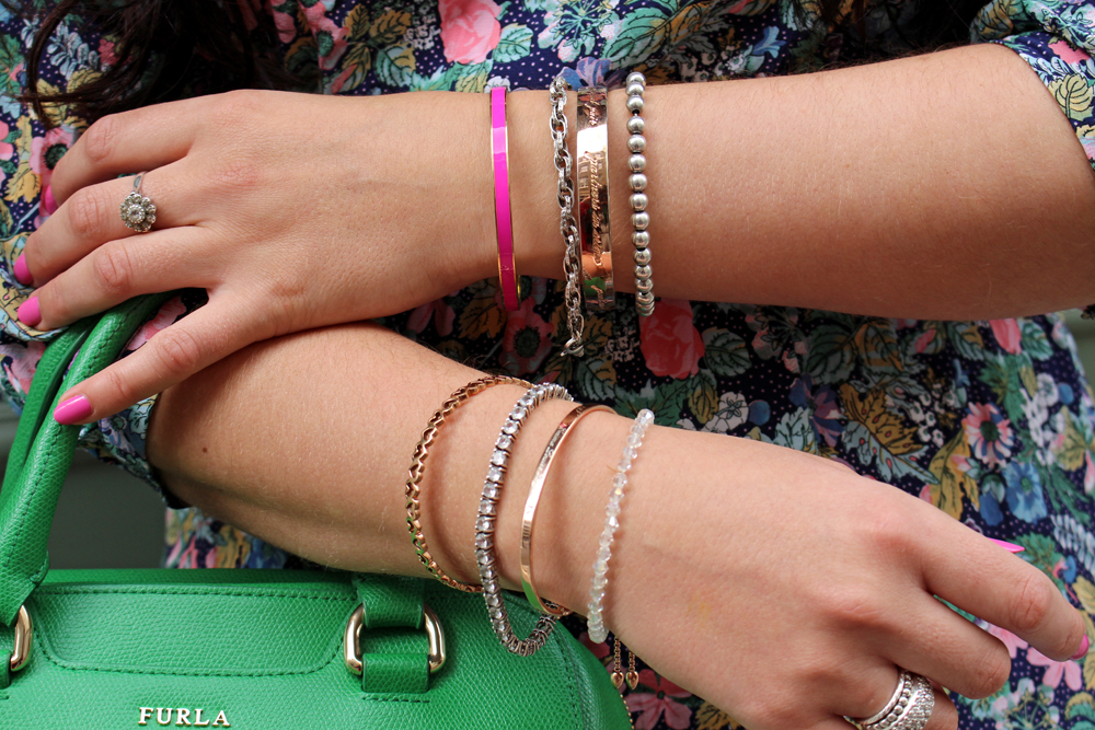 Monica Vinadier, Kate Spade & Follie Follie bracelets & bangles - London fashion blogger