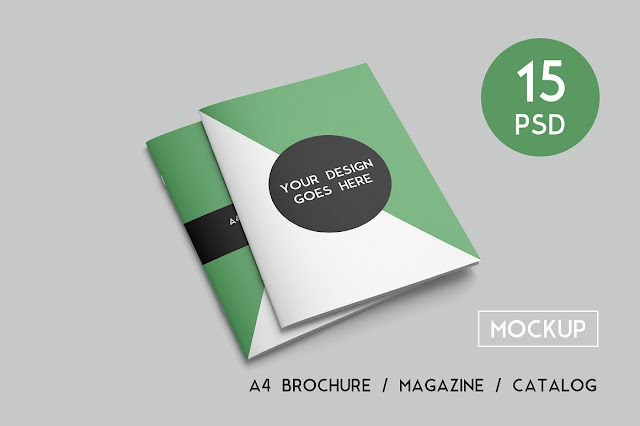 download a4 brochure, magazine and catalog mockups
