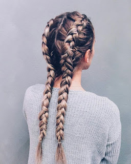 hairstyle DOUBLE DUTCH BRAIDS