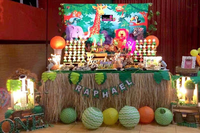 Safari themed Dessert Buffet