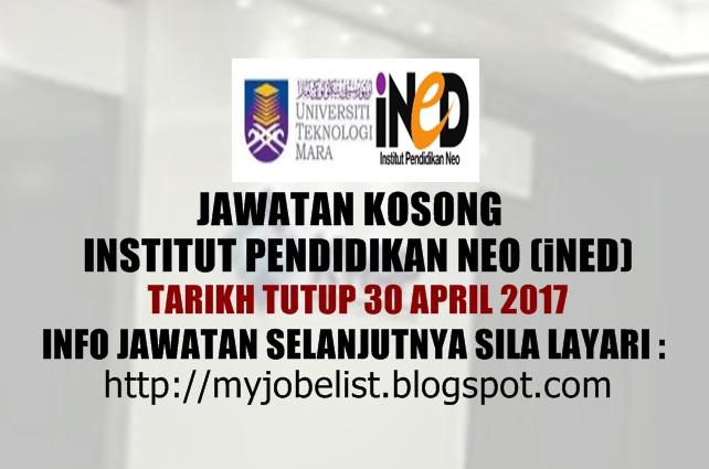Jawatan Kosong di Institut Pendidikan Neo (iNED) 2017