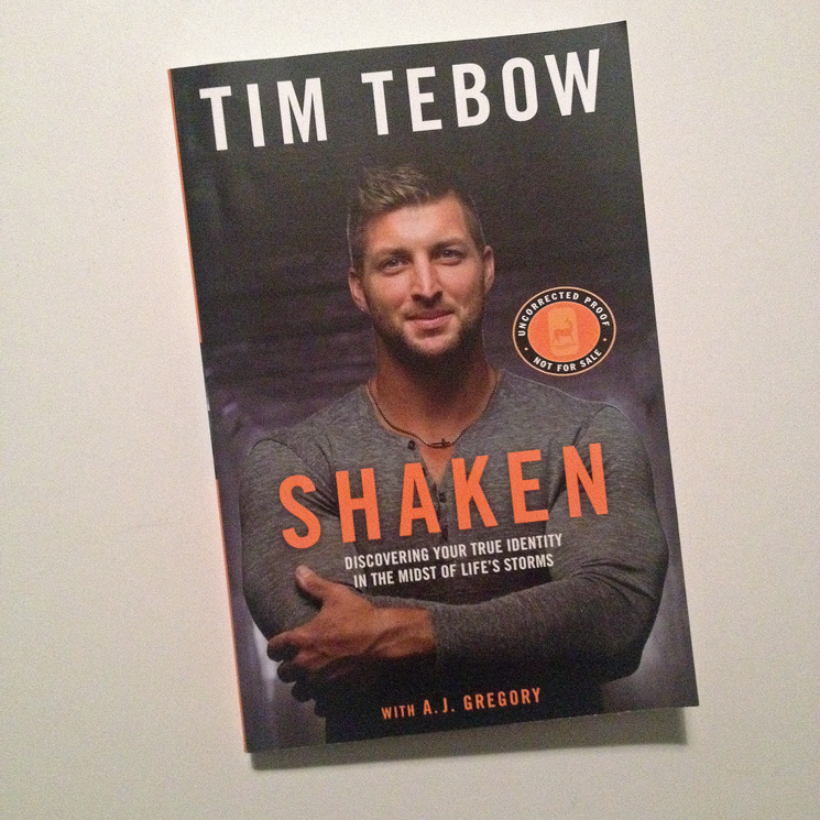 #Shaken by Tim Tebow - a book review - A Simpler Grace