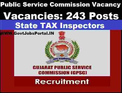 GPSC Tax Inspector Recruitment 2020  Public Service Commission Recruitment 2020