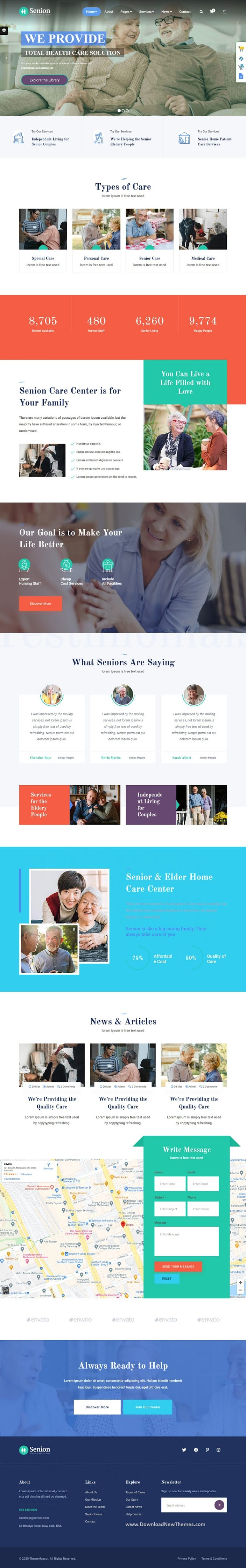 Senior Care Responsive HTML Theme