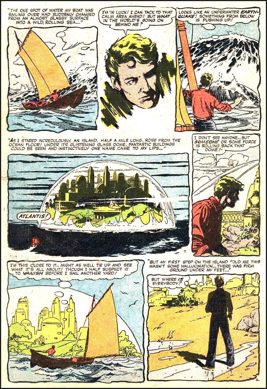 Mystery Tales #46 golden age 1950s atlas comic book page art by Al Williamson and Roy Krenkel