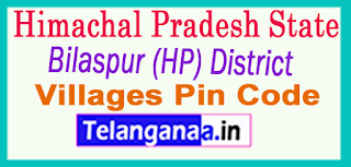 Bilaspur (HP) District Pin Codes in Himachal Pradesh State