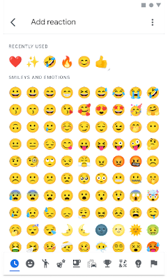 Image of emoji picking on Android phone showing the emojis available