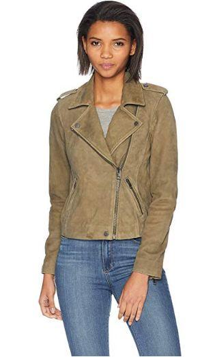 Lucky Brand Women's Helen Leather Moto Jacket