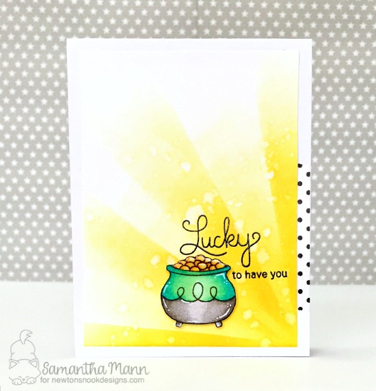 Lucky to have you card by Samantha Mann | Newton's Pot of Gold stamp set by Newton's Nook Designs #newtonsnook