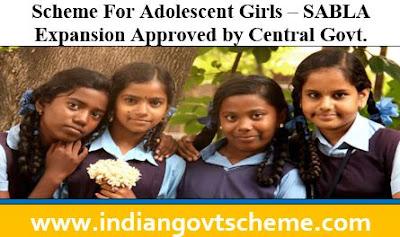 Scheme For Adolescent Girls