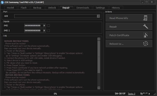 Z3X Samsung Tool Pro v33.7 Original Cracked Free Download