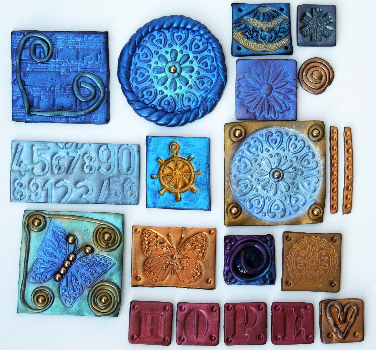 Just Search For Polymer Clay Tiles Or Mosaics I Plan To Use Mine On A Journal Cover But Need Make More It Completely