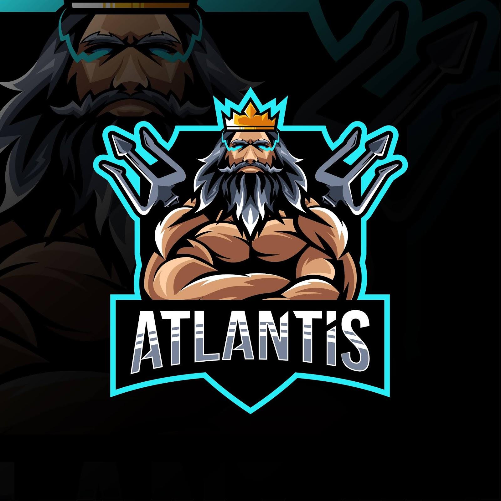 Atlantis Mascot Logo Esport Template Free Download Vector CDR, AI, EPS and PNG Formats